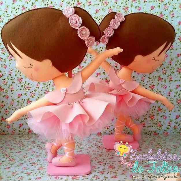 bailarina boneca feltro como fazer