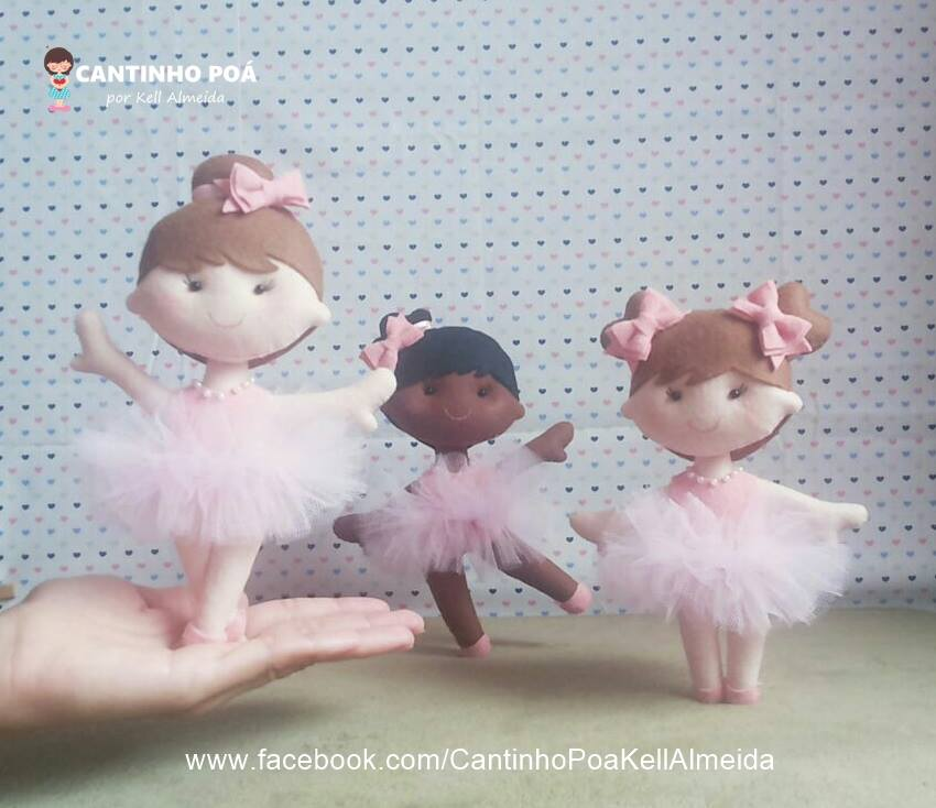 bailarina de feltro cantinho poá