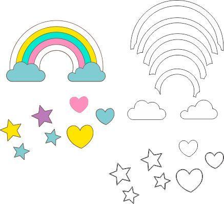 molde chuva de amor