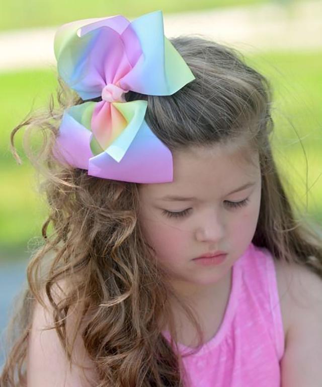 passo a passo laço para cabelo infantil