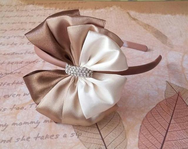 tiara laco de fita de cetim para cabelo