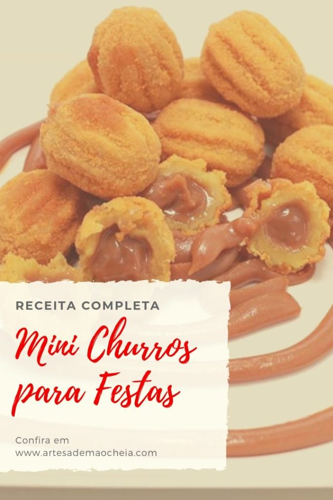 receita de mini churros para festa