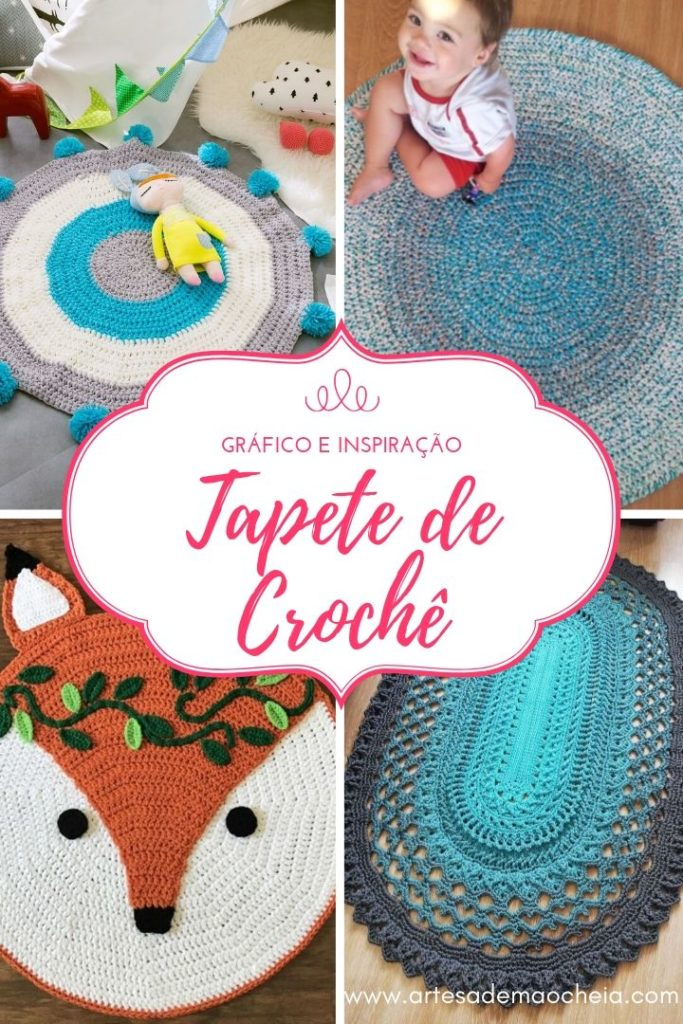 tapete de croche de barbante