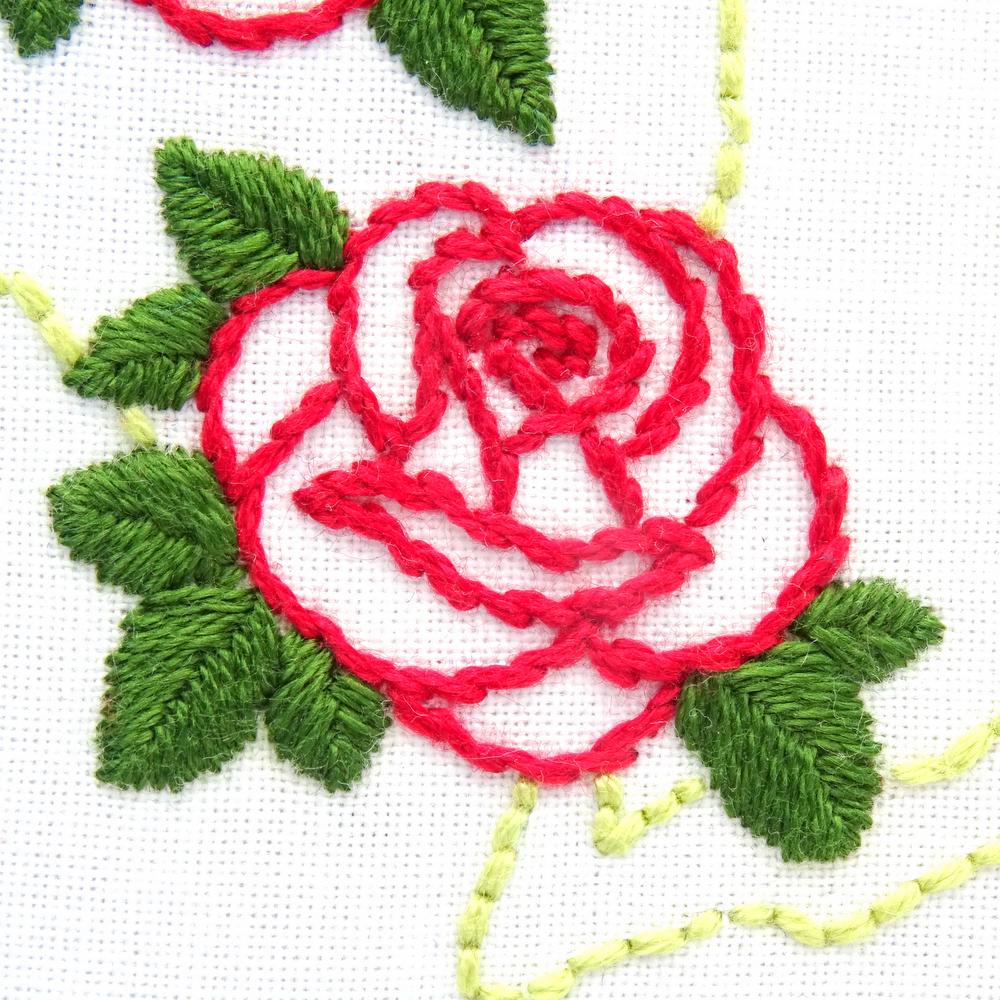 rosa bordado livre