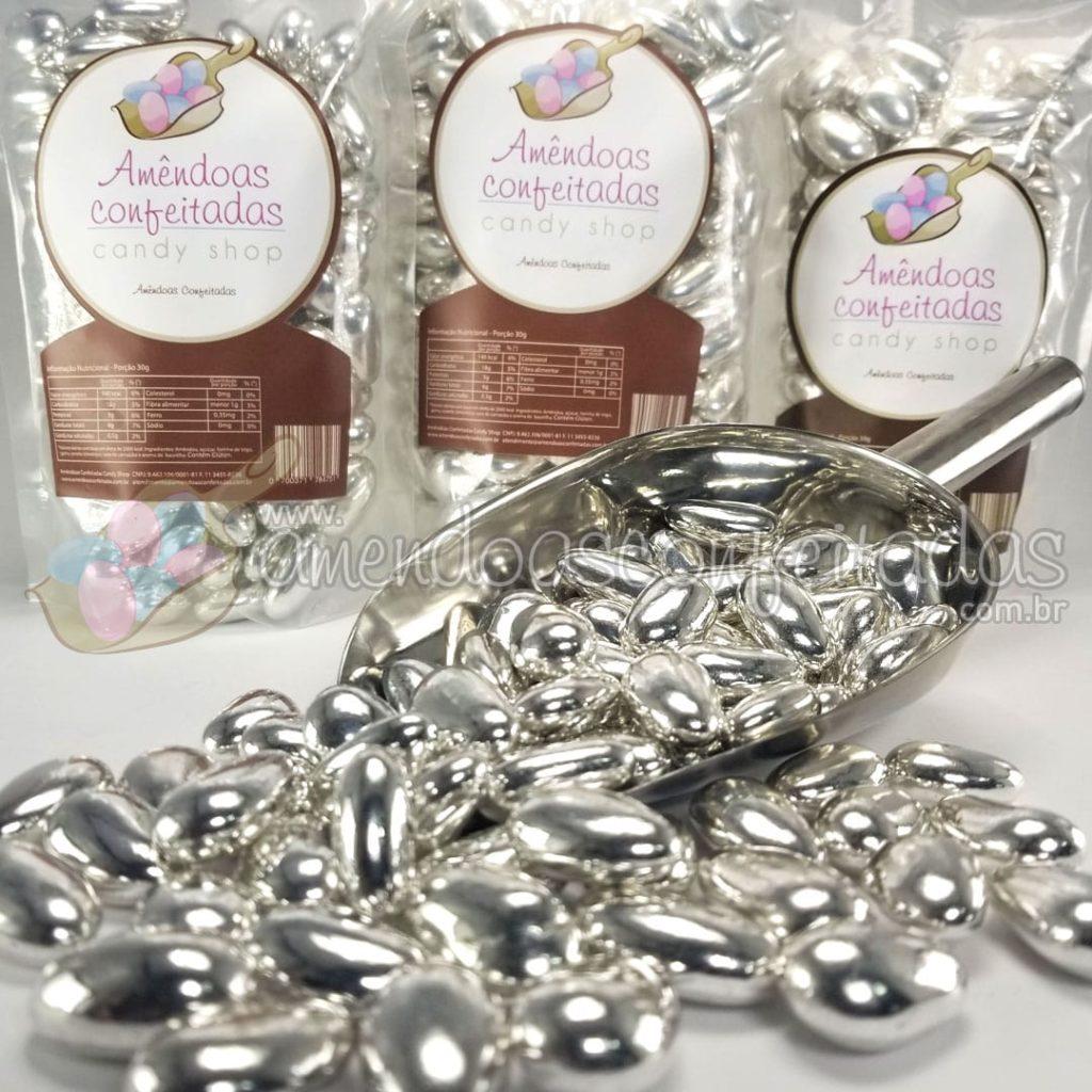 amendoas confeitadas prata deluxe
