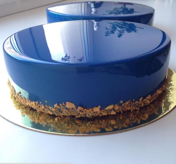 bolo de vidro cobertura espelhada