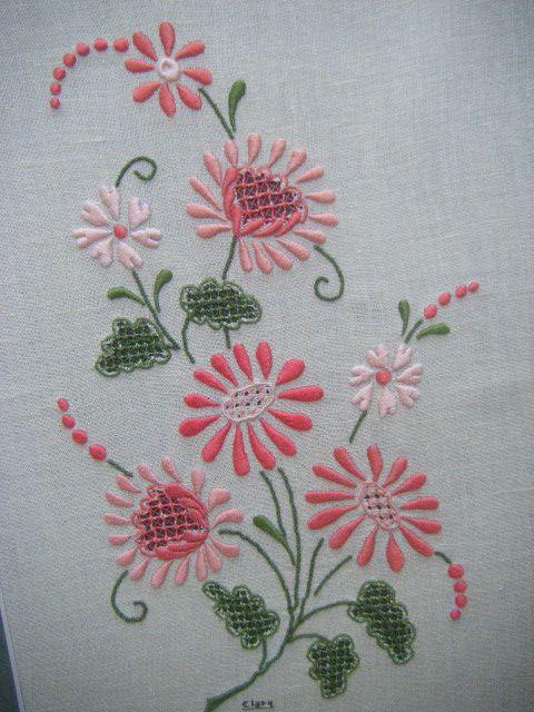 bordado livre flores