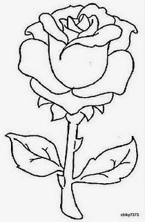 bordado livre risco floral rosa