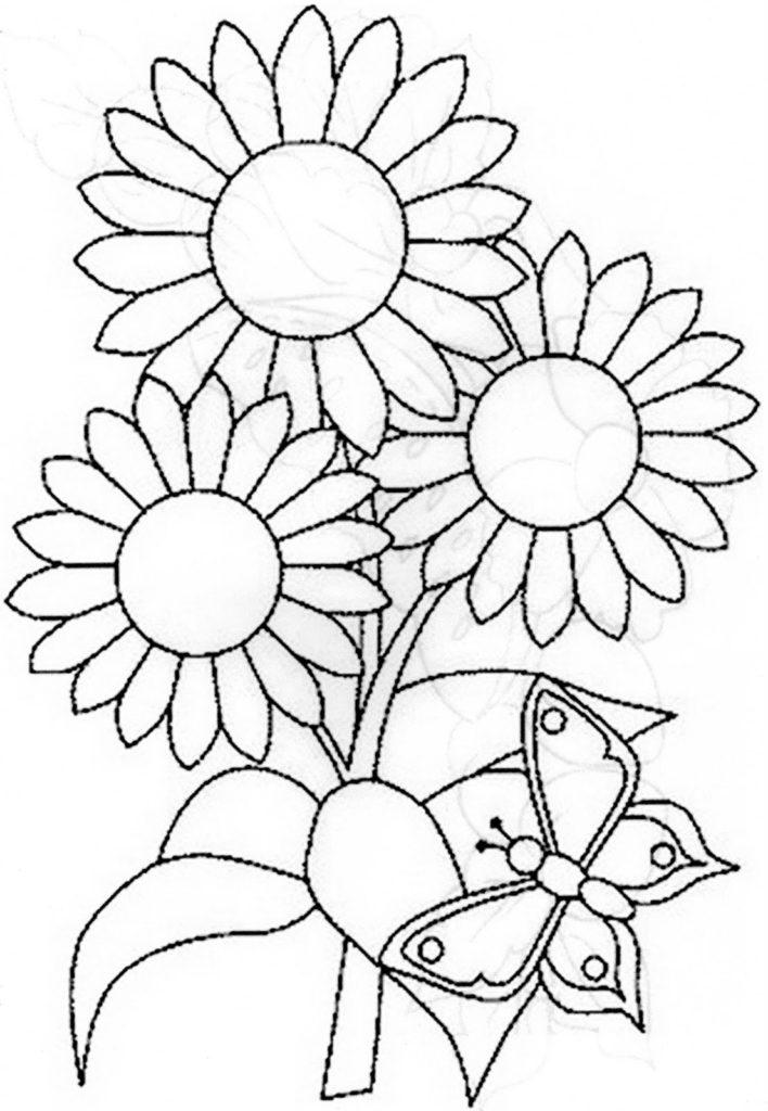 bordado livre riscos florais gratis