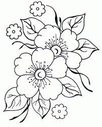 bordado livre riscos florais para imprimir