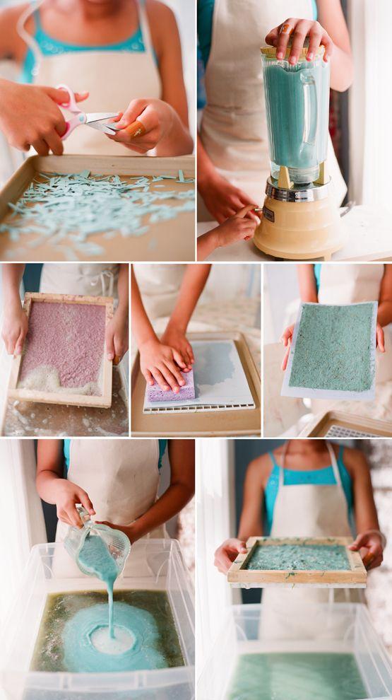 como fazer papel reciclado diy