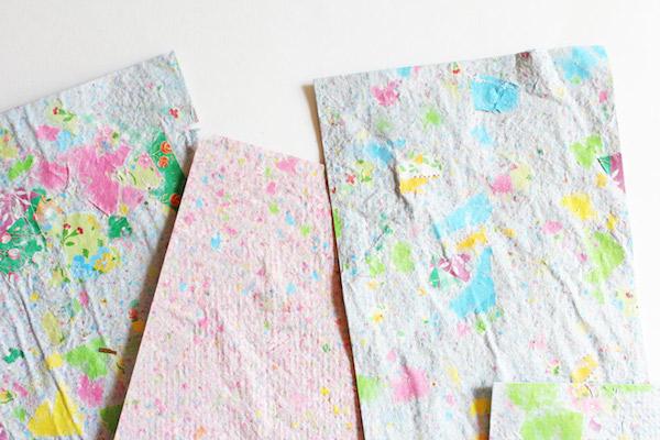 como fazer papel reciclado