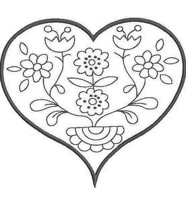 flor coracao bordado livre risco