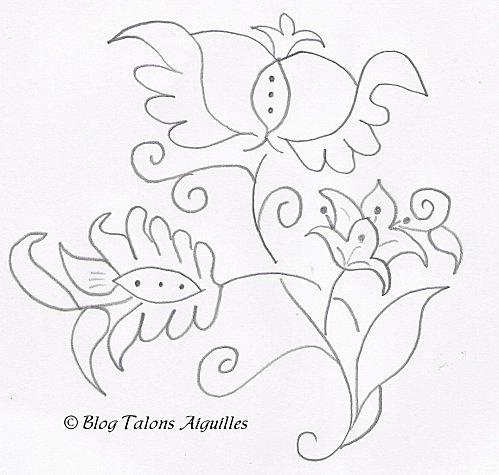 flor para bordar