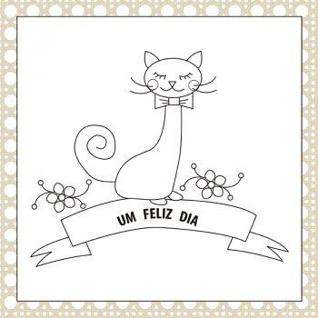 grafico bordado gatinho