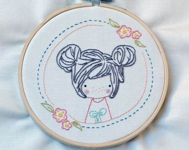 ideia de bordado menina