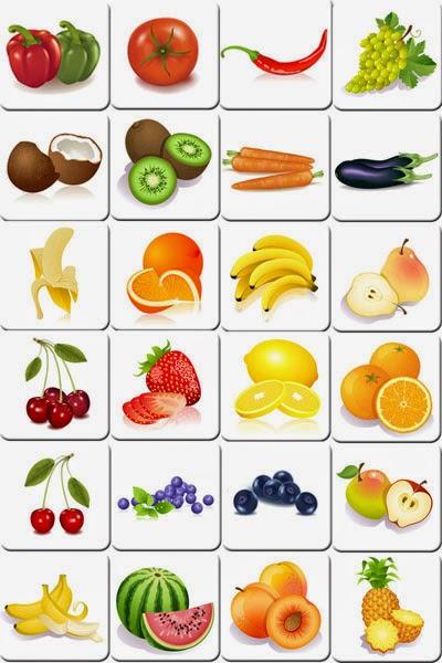 jogo da memória para imprimir frutas da feira