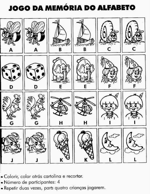 jogo da memória para imprimir
