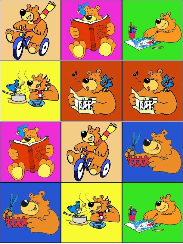 jogo da memoria para imprimir ursinho