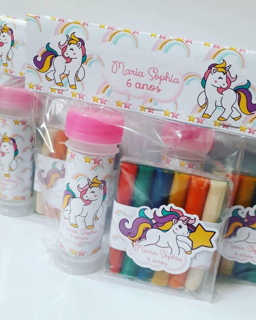 lembrancinha de aniversario de menina unicornio