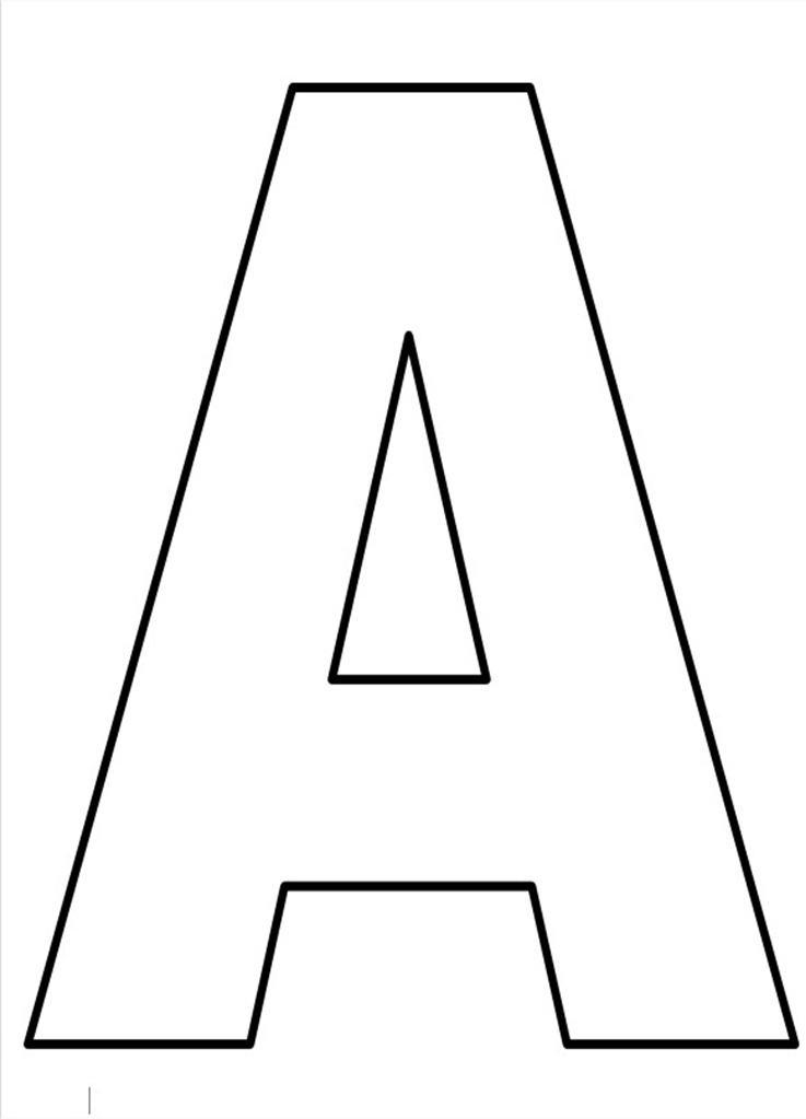letra do alfabeto para imprimir A