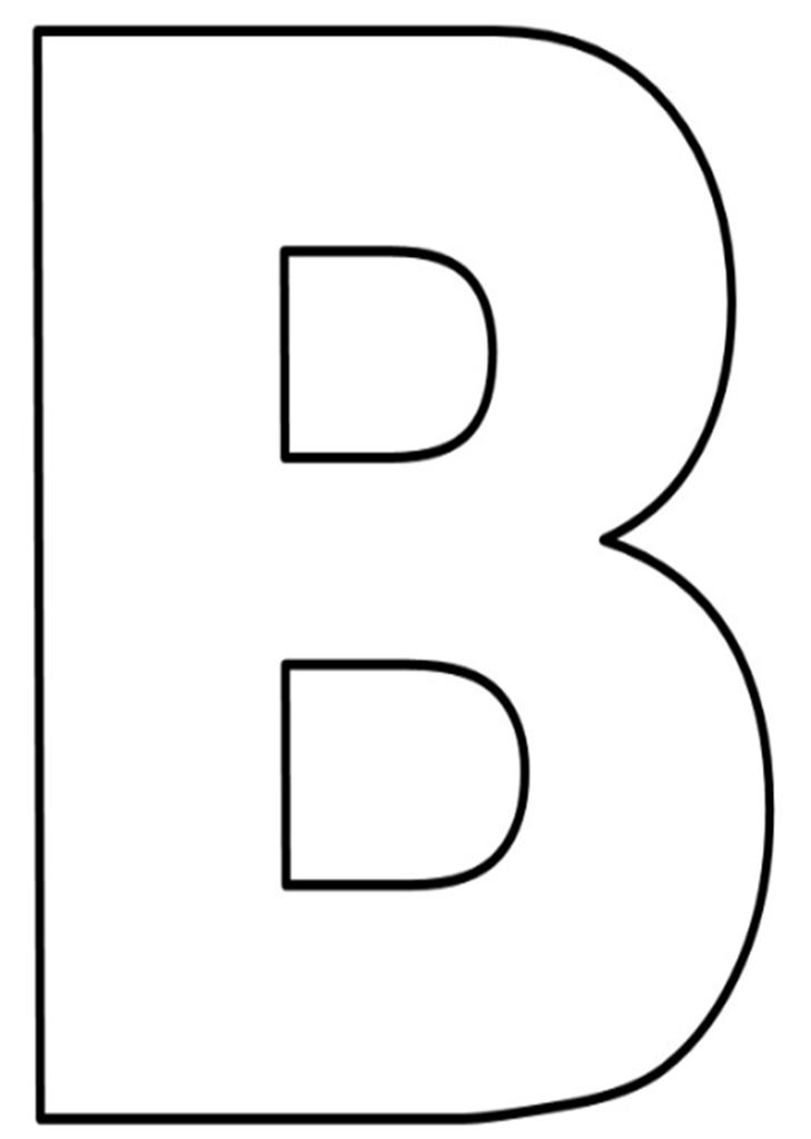 letras do alfabeto para imprimir B