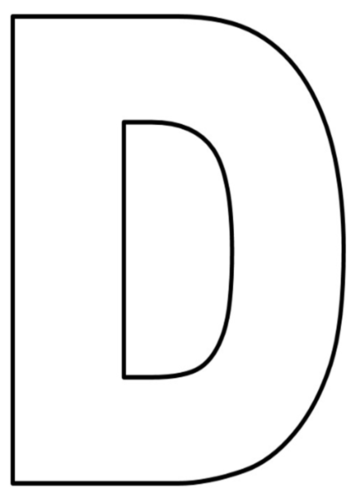 letras do alfabeto para imprimir D