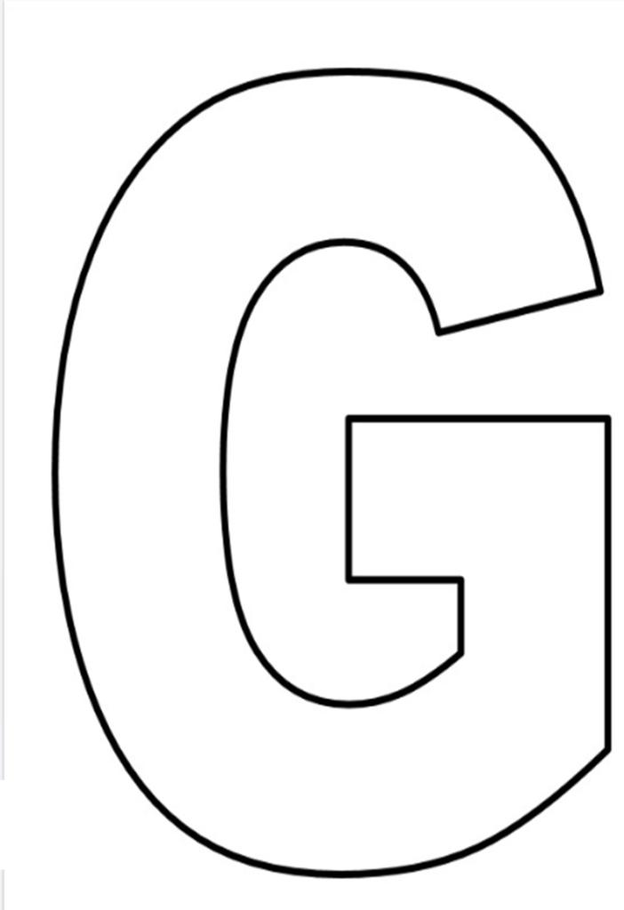 letras do alfabeto para imprimir G