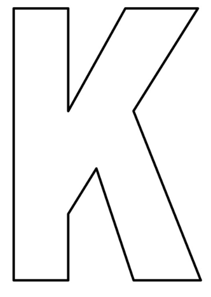 letras do alfabeto para imprimir K