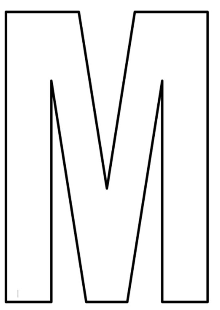 letras do alfabeto para imprimir M