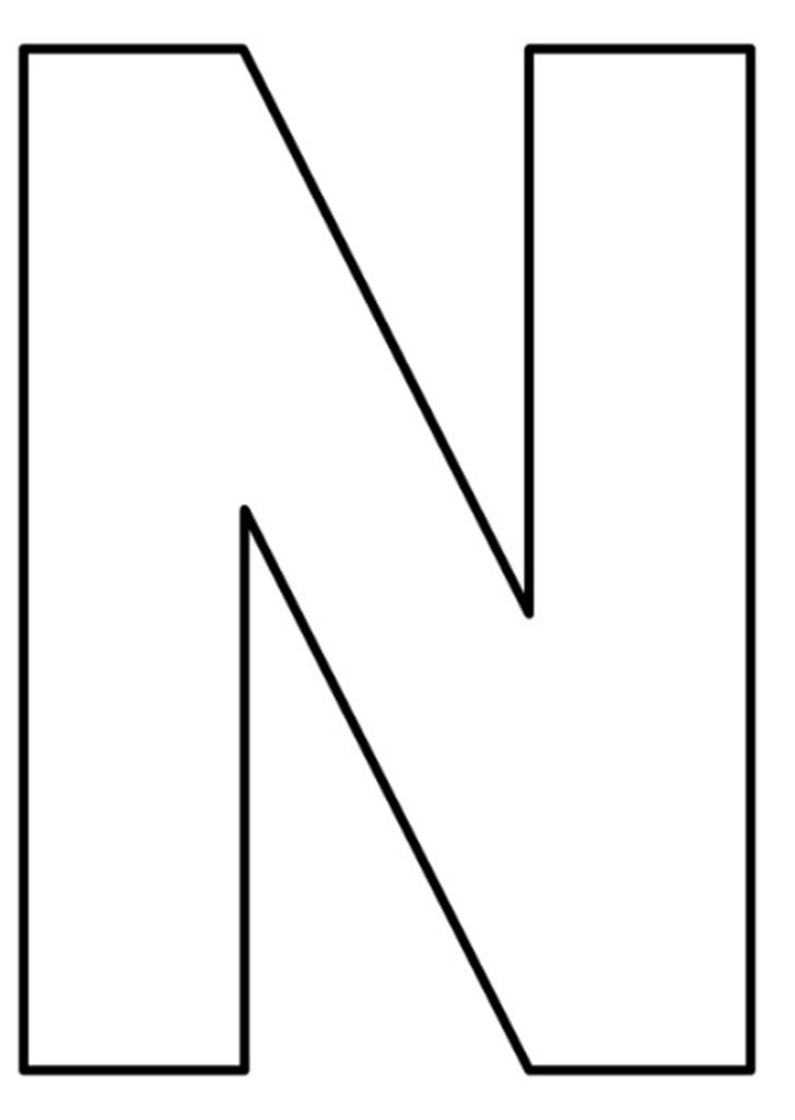 letras do alfabeto para imprimir N