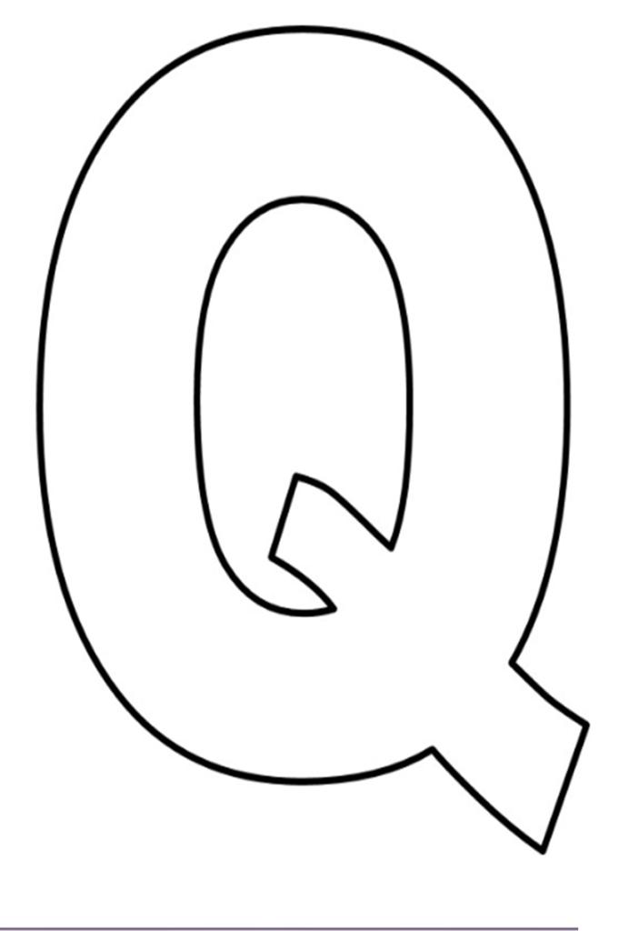 letras do alfabeto para imprimir Q