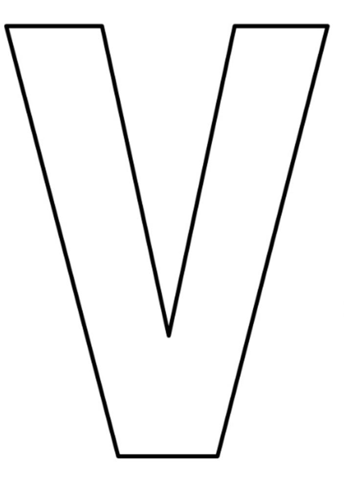letras do alfabeto para imprimir V