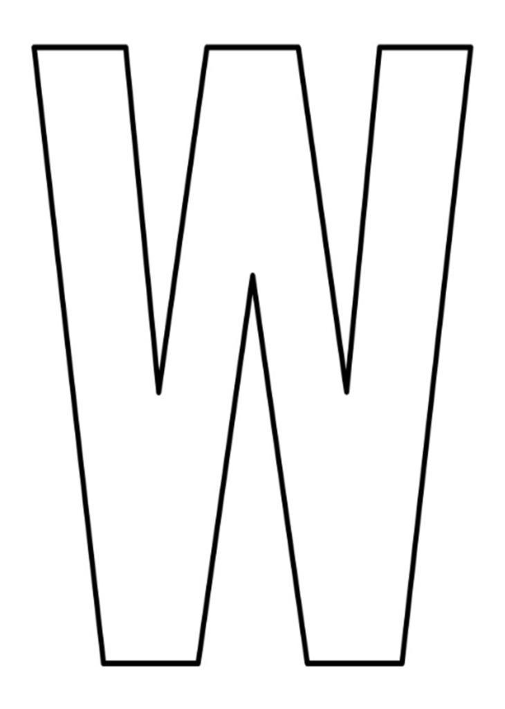 letras do alfabeto para imprimir W