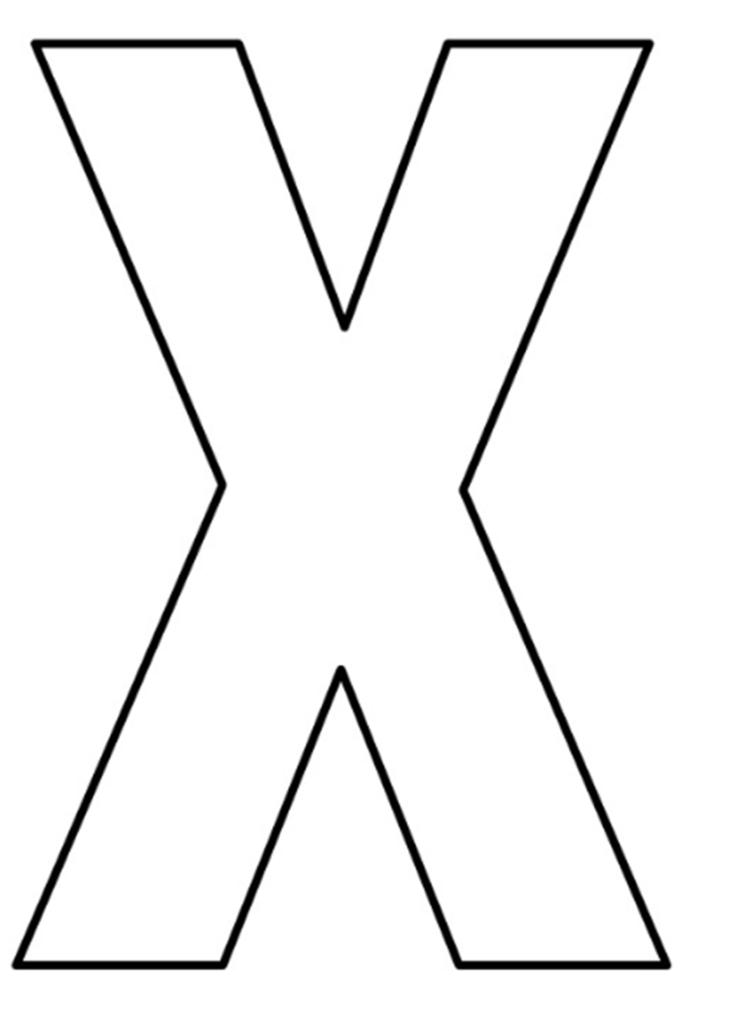 letras do alfabeto para imprimir X