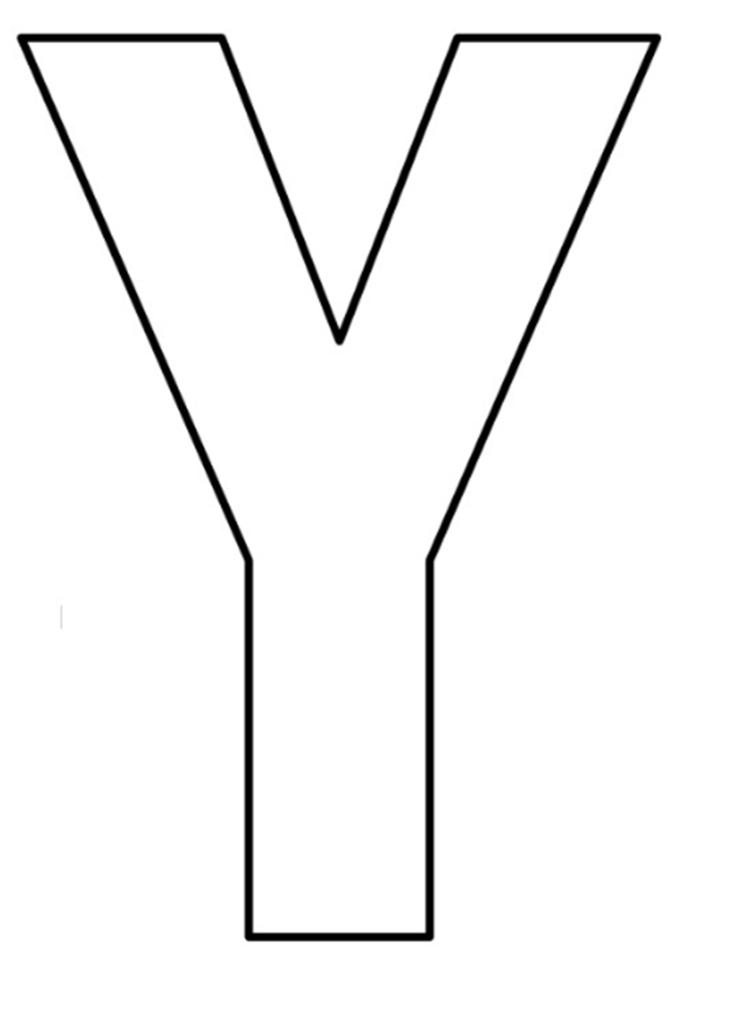 letras do alfabeto para imprimir Y