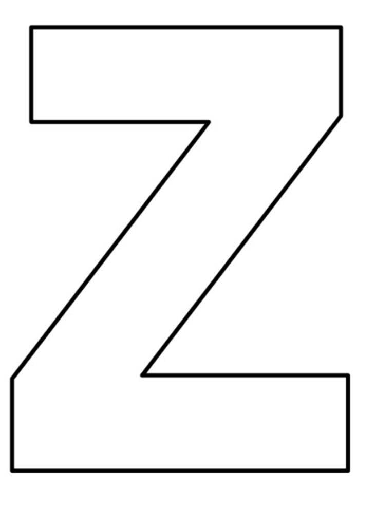 letras do alfabeto para imprimir Z
