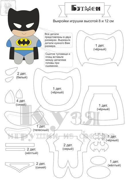 molde batman feltro