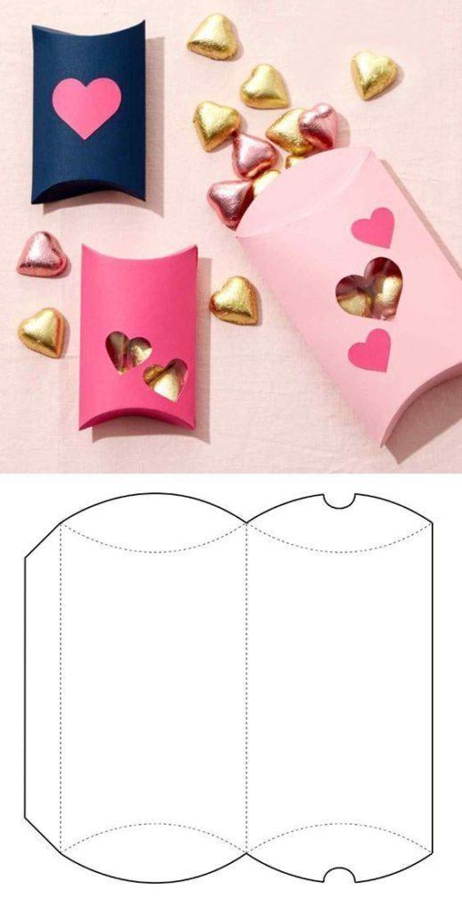 molde caixa de papel lembrancinha