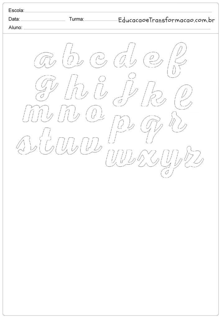 molde de letra cursiva para imprimir