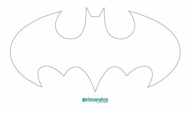 molde simbolo do batman eva e feltro