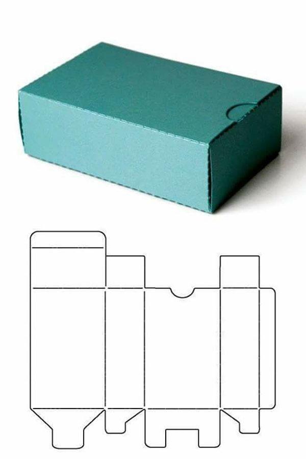 molde simples para caixa de papel