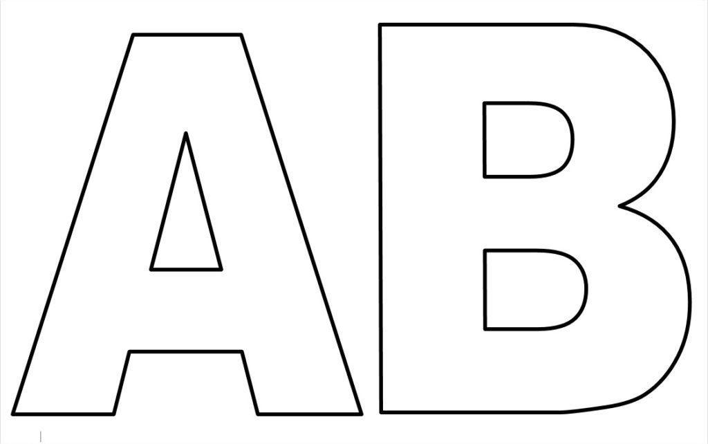 moldes de de letras para imprimir A B C