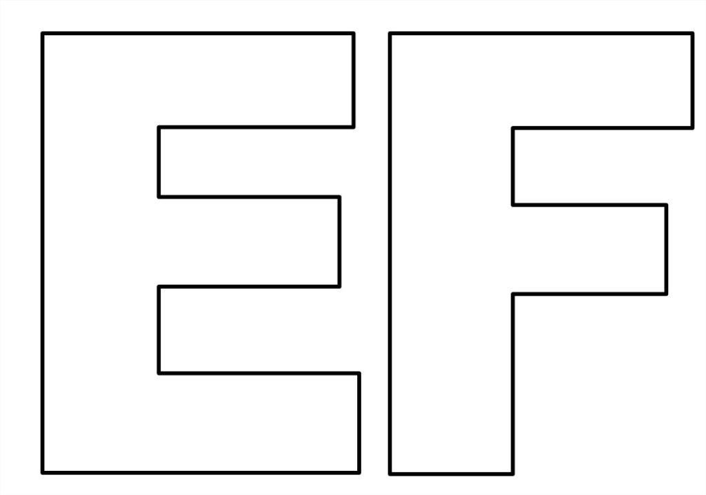 moldes de de letras para imprimir e f