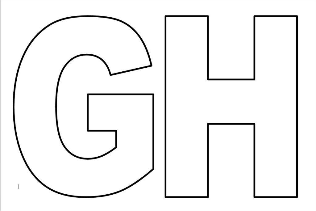 moldes de de letras para imprimir g h