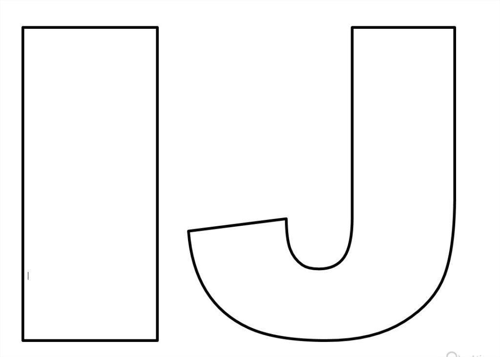 moldes de de letras para imprimir i j