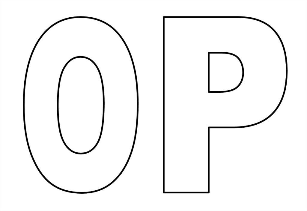moldes de de letras para imprimir o p