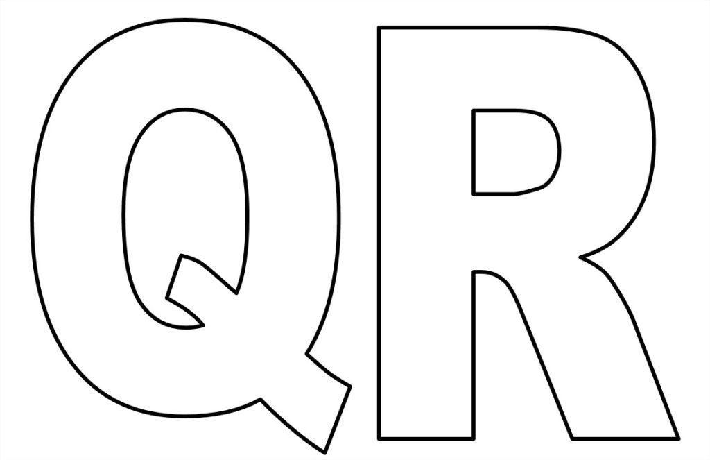 moldes de de letras para imprimir q r