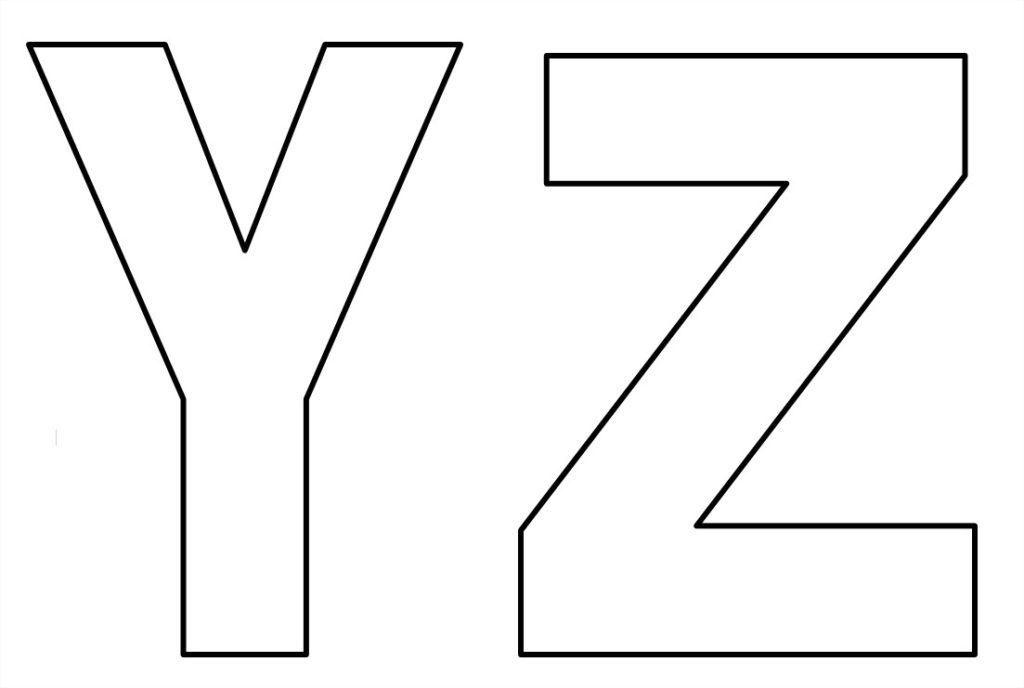 moldes de de letras para imprimir y z
