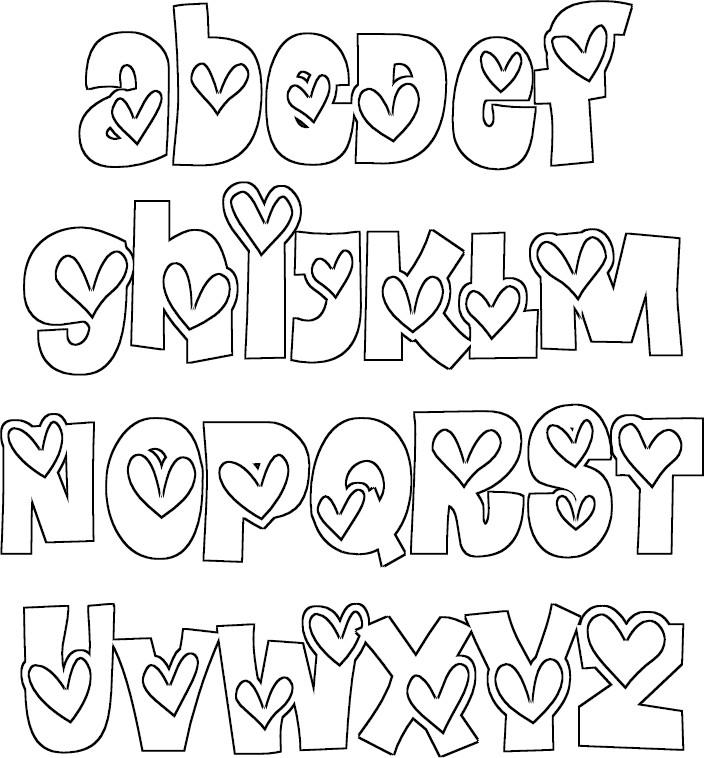 moldes de letras grandes para cartaz